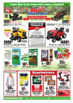 Department Stores offers in the Blain's Farm & Fleet catalogue in Rockford IL ( 3 days left )