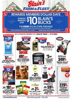 Department Stores offers in the Blain's Farm & Fleet catalogue in Waterloo IA ( 2 days left )