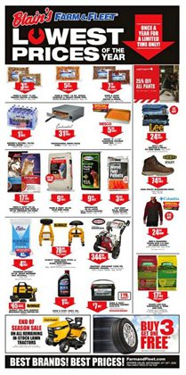 Department Stores offers in the Blain's Farm & Fleet catalogue in Janesville WI ( Expires tomorrow )