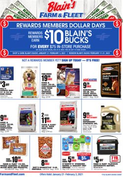 Department Stores offers in the Blain's Farm & Fleet catalogue in Bloomington IL ( 8 days left )