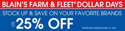 Blain's Farm & Fleet coupon ( 4 days left)