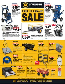 Tools & Hardware deals in the Northern Tool + Equipment catalog ( Expires today)