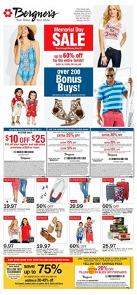 Fox River Mall deals in the Bergner's weekly ad in Appleton WI