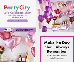 Mother's Day deals in the Party City catalog ( 8 days left)