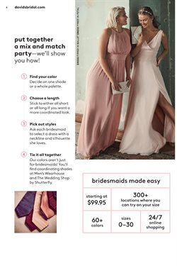 Dress deals in the David's Bridal weekly ad in Duluth GA