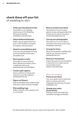 Ring deals in the David's Bridal weekly ad in New York
