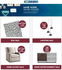 Home & Furniture deals in the Rooms To Go catalog ( Published today)
