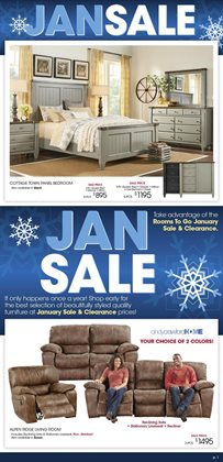 Rooms To Go deals in the Houston TX weekly ad