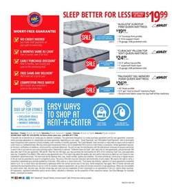 Mattress deals in the Rent a Center weekly ad in Lakewood WA