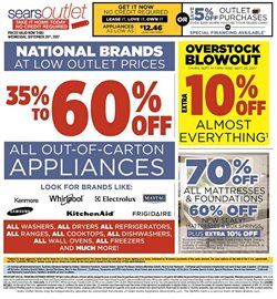 Sears Outlet deals in the New York weekly ad