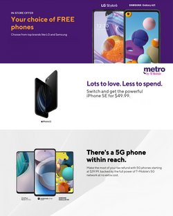 Electronics & Office Supplies offers in the MetroPCS catalogue in Middletown OH ( 17 days left )