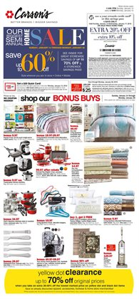 Carson's deals in the Chicago IL weekly ad