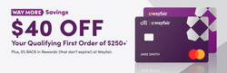 Wayfair coupon in Valparaiso IN ( 3 days left )