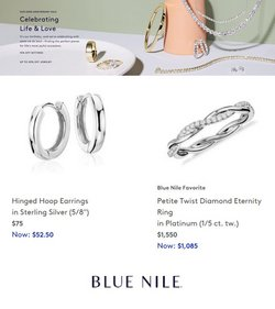 Jewelry & Watches deals in the Blue Nile catalog ( 2 days left)