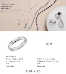 Jewelry & Watches deals in the Blue Nile catalog ( 3 days left)