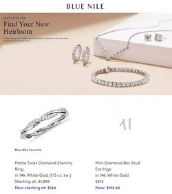 Jewelry & Watches deals in the Blue Nile catalog ( 4 days left)