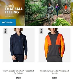 Columbia Sportswear deals in the Columbia Sportswear catalog ( 21 days left)