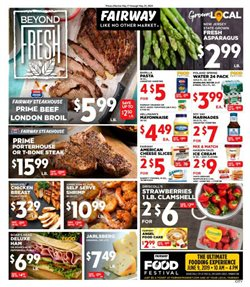 Fairway Store Market deals in the New York weekly ad