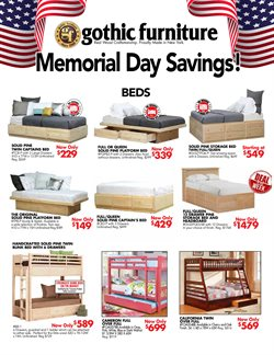 Home & Furniture deals in the Gothic Cabinet Craft weekly ad in New York