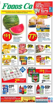 Foods Co deals in the Sacramento CA weekly ad