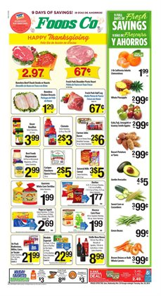 Foods Co deals in the San Francisco CA weekly ad
