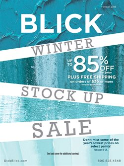 Blick deals in the New York weekly ad