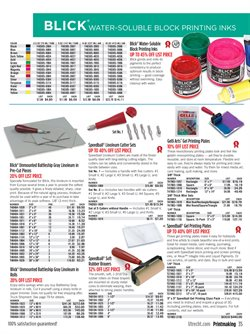 Plates deals in the Blick weekly ad in New York