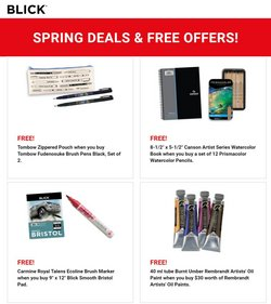 Home & Furniture deals in the Blick catalog ( Expires today)