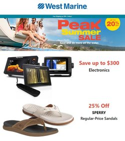 Department Stores deals in the West Marine catalog ( Expires tomorrow)