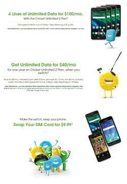 Phones deals in the Cricket Wireless weekly ad in New York