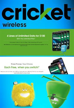 Electronics & Office Supplies deals in the Cricket Wireless weekly ad in Memphis TN