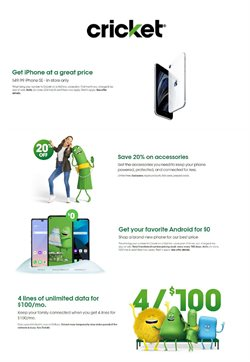 Electronics & Office Supplies offers in the Cricket Wireless catalogue in Springdale OH ( Expires tomorrow )