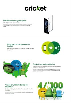 Electronics & Office Supplies offers in the Cricket Wireless catalogue in Nashville TN ( 5 days left )