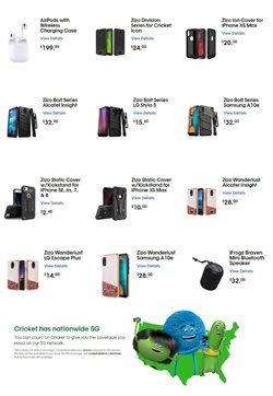 Covers deals in Cricket Wireless