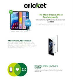 Electronics & Office Supplies offers in the Cricket Wireless catalogue in Bridgeport CT ( 3 days left )