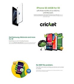 Electronics & Office Supplies deals in the Cricket Wireless catalog ( Expires today)