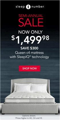 Sleep Number deals in the Houston TX weekly ad