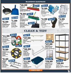 Shelving deals in the McLendon weekly ad in Kent WA