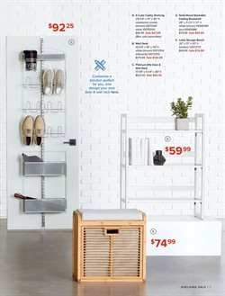 Bookshelf deals in the The Container Store weekly ad in New York