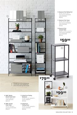 Table deals in the The Container Store weekly ad in Kent WA