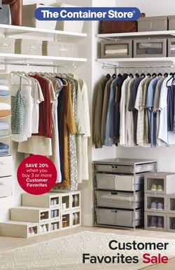 Home & Furniture deals in the The Container Store catalog ( More than a month)