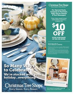 Home & Furniture deals in the Christmas Tree Shops catalog ( 2 days left)