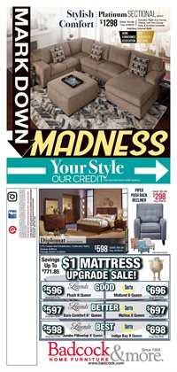 Mattress deals in the Badcock weekly ad in Roswell GA