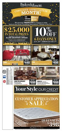 Home & Furniture deals in the Badcock weekly ad in Saint Augustine FL