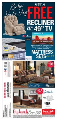 Home & Furniture deals in the Badcock weekly ad in North Charleston SC