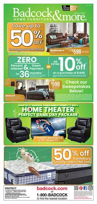 Home & Furniture deals in the Badcock weekly ad in Concord NC