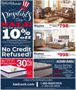 Home & Furniture offers in the Badcock catalogue in Summerville SC ( 3 days left )