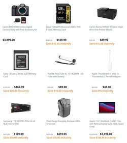 Canon deals in BH Photo