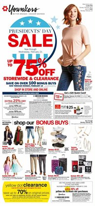 Clothing & Apparel deals in the Younkers weekly ad in East Lansing MI