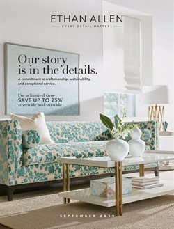 Ethan Allen deals in the Sioux Falls SD weekly ad